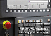 Fanuc CNCs for any kind of precision ob
